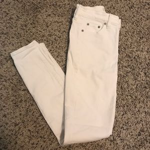 J Crew White Stretch Jeans